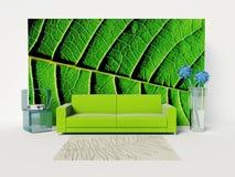 Quarto verde Fotos de Stock Royalty Free