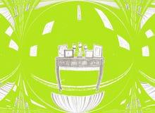 Quarto verde Imagem de Stock Royalty Free