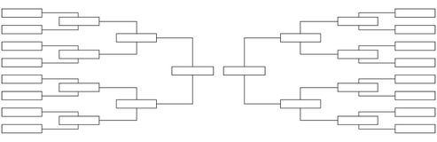 Quartos de final do competiam da tabela do campeonato em esportes ilustração do vetor