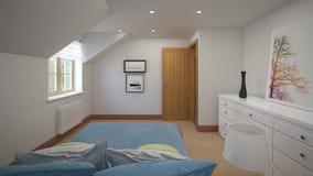 Quartos do design de interiores em uma casa de campo video estoque