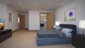 Quartos do design de interiores em uma casa de campo vídeos de arquivo
