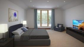 Quartos do design de interiores em uma casa de campo filme