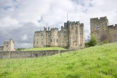 Quartos do estado do castelo de Alnwick fotos de stock
