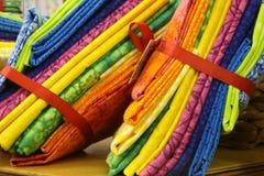 Quartos gordos coloridos do Quilt Imagens de Stock