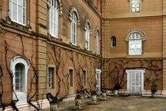 Quartos laterais da mansão Foto de Stock