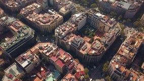 Quartos quadrados típicos de Barcelona video estoque