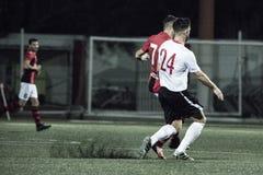 Quarts de finale de tasse de roche du Gibraltar - le football - Manchester 62 0 Image stock