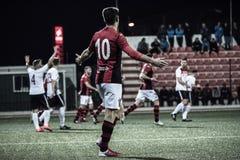 Quarts de finale de tasse de roche du Gibraltar - le football - Manchester 62 0 Images libres de droits