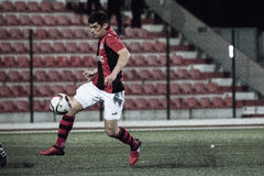 Quarts de finale de tasse de roche du Gibraltar - le football - Manchester 62 0 Photo stock