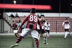 Quarts de finale de tasse de roche du Gibraltar - le football - Manchester 62 0 Photographie stock libre de droits