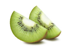 2 quarts de kiwi d'isolement sur le fond blanc Photo libre de droits