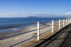 Quartu: praia da margem vermelha Imagem de Stock Royalty Free