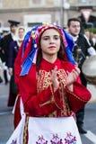 QUARTU S Ε , ΙΤΑΛΙΑ - 15 ΙΟΥΛΊΟΥ 2017: 31 Sciampitta - διεθνές φεστιβάλ λαογραφίας - Σαρδηνία στοκ εικόνες