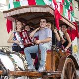 QUARTU S Ε , ΙΤΑΛΙΑ - 28 Ιουλίου 2012: Γιορτή του ST John - Σαρδηνία Στοκ Εικόνες