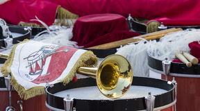 QUARTU S e , ИТАЛИЯ - 12-ое июля 2014: 28th парад Sciampitta - Сардиния Стоковое Изображение RF