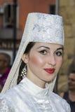 QUARTU S e , ITÁLIA - 13 de julho de 2013: Festival internacional do ^ Sciampitta - Sardinia do folclore 27 Fotos de Stock