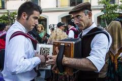 QUARTU S e , ITÁLIA - 15 de setembro de 2012: Parada do festival de vinho 2012 - Sardinia Imagem de Stock Royalty Free