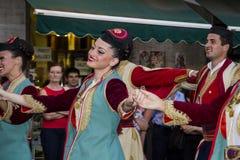 QUARTU S e , ITALIË - Juli 14, 2012: Internationaal Folklorefestival - 26 ^ Sciampitta - Sardinige Stock Foto's