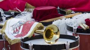 QUARTU S e , ITALIË - 2014 12 Juli: 28ste parade Sciampitta - Sardinige Royalty-vrije Stock Afbeelding