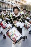 QUARTU S e , ITALIA - 15 de julio de 2016: 30 ^ Sciampitta - festival internacional del folclore - Cerdeña Fotos de archivo libres de regalías