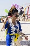 QUARTU S e , ITALIEN 22. September 2012: ` Drachen-Festival ` am Poetto-Strand - Sardinien Stockbild