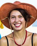 QUARTU S.E., ITALY - August 2, 2015: Beach Cosplay Party - costume parade held at the Marlin Club of Poetto Beach - Sardinia Royalty Free Stock Photography