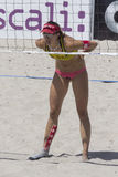 QUARTU S.E. , ITALY - 2014 June 7, 2014: European Beach Volleyball 2014 - women's tournament - Poetto beach - Sardinia Stock Photos