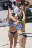 QUARTU S.E. , ITALY - June 2014, 7: European Beach Volleyball 2014 - women's tournament - Poetto beach - Sardinia - Stock Images