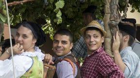 QUARTU S E , l'ITALIA - 15 settembre 2013: Festival di vino, in onore della celebrazione della Sant'Elena - la Sardegna immagine stock libera da diritti
