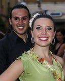 QUARTU S e , WŁOCHY, Lipiec - 13, 2013: Międzynarodowy festiwal folkloru 27 ^ Sciampitta, Sardinia - Obraz Stock