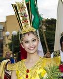 QUARTU S e , WŁOCHY, Lipiec - 13, 2013: Międzynarodowy festiwal folkloru 27 ^ Sciampitta, Sardinia - Zdjęcia Royalty Free