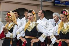 QUARTU S e , WŁOCHY, Lipiec - 14, 2012: Międzynarodowy folkloru festiwal - 26 Sciampitta, Sardinia ^ - Obrazy Stock