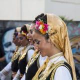 QUARTU S e , WŁOCHY, Lipiec - 14, 2012: Międzynarodowy folkloru festiwal - 26 Sciampitta, Sardinia ^ - Obraz Stock