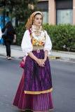 QUARTU S e , WŁOCHY, Lipiec - 15, 2016: 30 Sciampitta ^ Sardinia - Międzynarodowy festiwal folklor - Zdjęcia Royalty Free