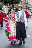 QUARTU S e , WŁOCHY, Lipiec - 15, 2016: 30 Sciampitta ^ Sardinia - Międzynarodowy festiwal folklor - Obraz Royalty Free