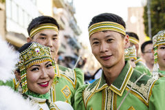 QUARTU S e , WŁOCHY, Lipiec - 15, 2016: 30 Sciampitta Sardinia - Międzynarodowy festiwal folklor - Obraz Royalty Free