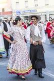 QUARTU S e , WŁOCHY, LIPIEC - 15, 2016: 30 Sciampitta Sardinia - Międzynarodowy folkloru festiwal - Obraz Stock