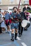 QUARTU S e , WŁOCHY, LIPIEC - 15, 2017: 31 Sciampitta Sardinia - Międzynarodowy folkloru festiwal - Obraz Royalty Free