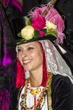QUARTU S e , WŁOCHY, Wrzesień - 20, 2015: W ten sposób ubierający w Quartu Sardinia - parada kostiumy i abbigliiamento okres - Zdjęcia Royalty Free