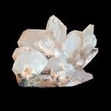 Quartz. White quartz crystal isolated on black background Royalty Free Stock Photography