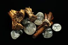 Quartz and cinnamon Stock Photography