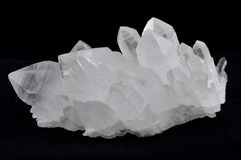 Quartz cluster Royalty Free Stock Images