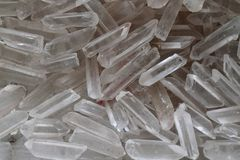Quartz crystal background Royalty Free Stock Images