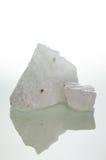Quartz crystal over white Royalty Free Stock Photo