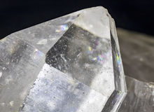 Quartz Crystal Point Macro stock photos