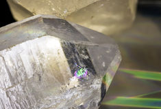 Quartz Crystal Point Prism Royalty Free Stock Photos