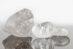 Quartz crystal uncut and polished, concept alternative medicine Stock Photography