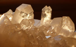 Quartz crystals. Scene in sunlight Stock Photo