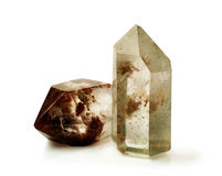 Quartz crystals Stock Images
