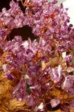Quartz Crystals. Tiny bits of quartz crystals fashioned into decorative ornaments Royalty Free Stock Photo